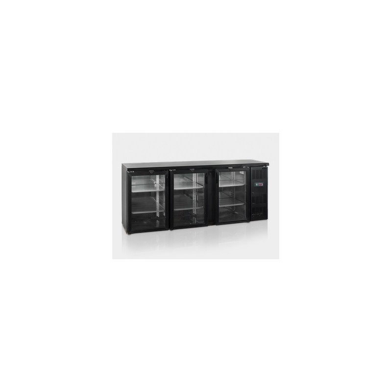 frigo arri re de bar 3 portes vitr es 442 l avec. Black Bedroom Furniture Sets. Home Design Ideas