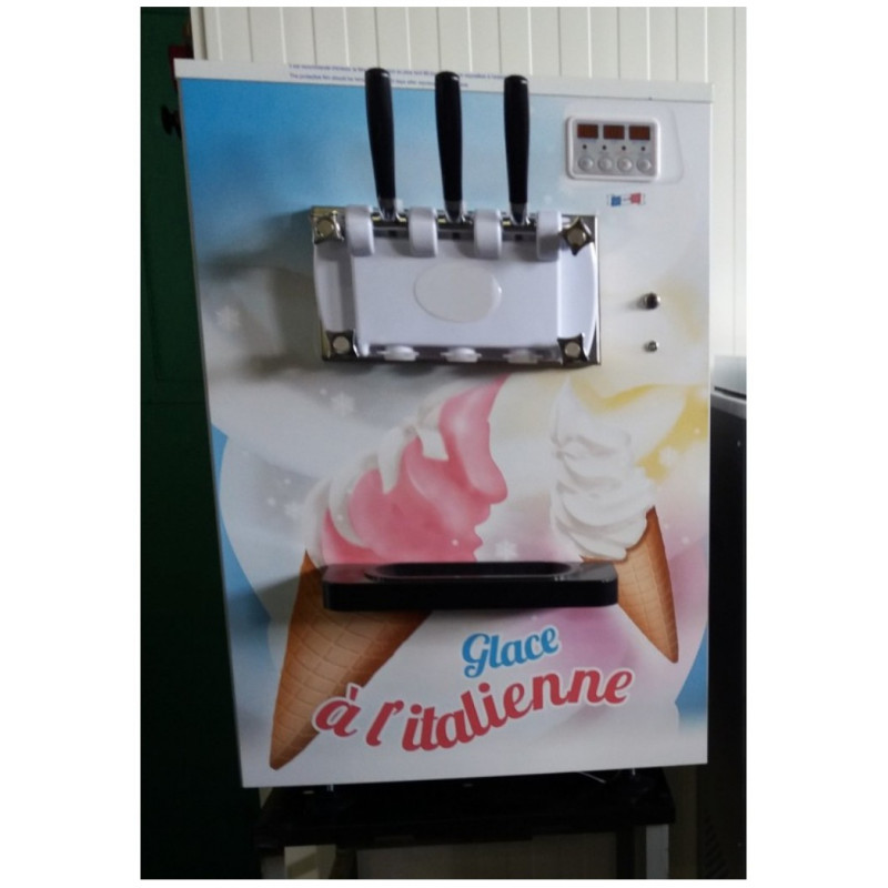 Machine soft ice cream comptoir