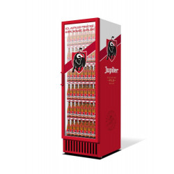 Frigo vitrine Jupiler® lettrage stickers